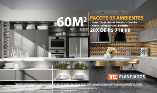 60m2 • 05 Ambientes 20x iguais de R$718,00